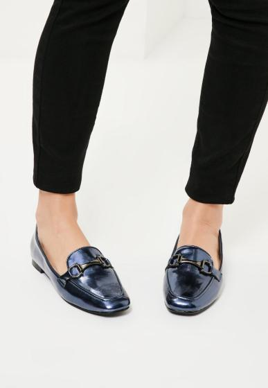 blue-buckle-detail-loafers-missguided