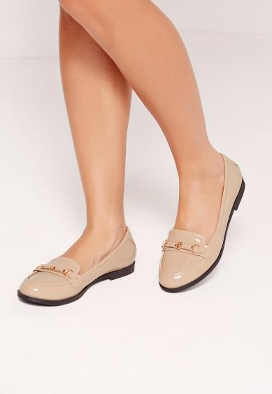 nude-loafer-metal-detail-missguided