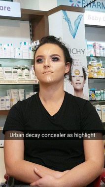 Collette masterclass urban decay concealer as highlight