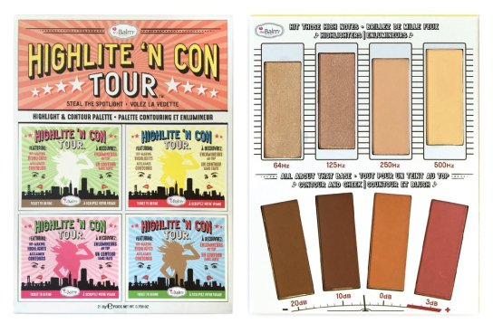 The balm highlight n con tour palette