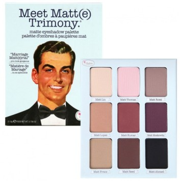 The balm Meet Matte Trimony palette