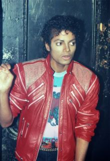 michael jackson red leather