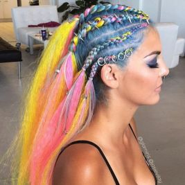 festival look braids with hair charms