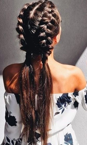 festival look dutch braid ponytail