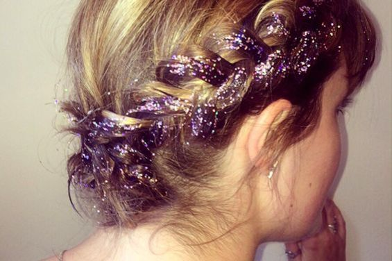 festival look glitter braids