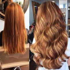 before and after hair extensions 1