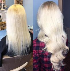 before and after hair extensions 2