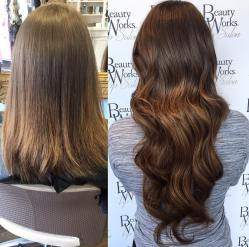 before and after hair extensions 3