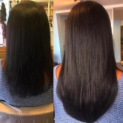 before and after hair extensions 5