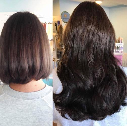 before and after hair extensions 7