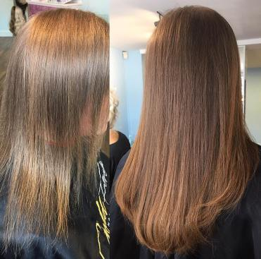 before and after hair extensions 9