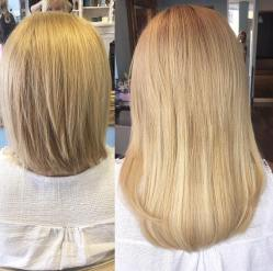 before and after hair extensions4