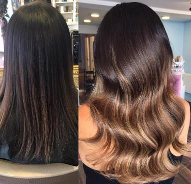 before and after hair extensions6