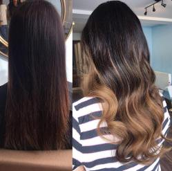 before and after hair extensions8