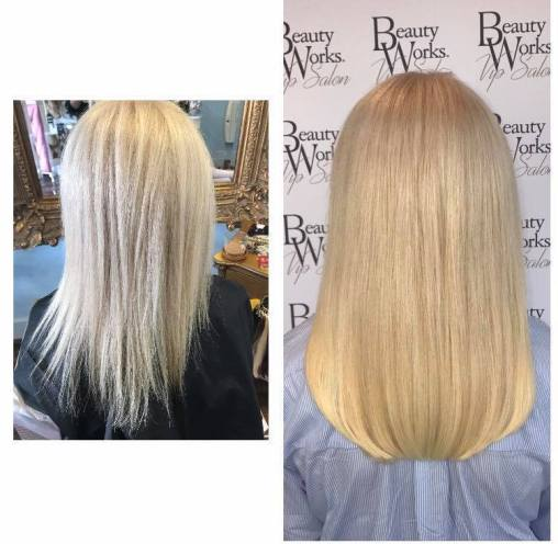 before and after hair