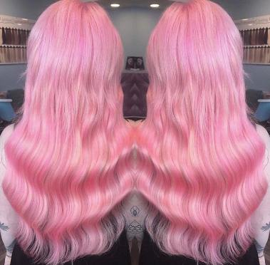 hair extensions pink